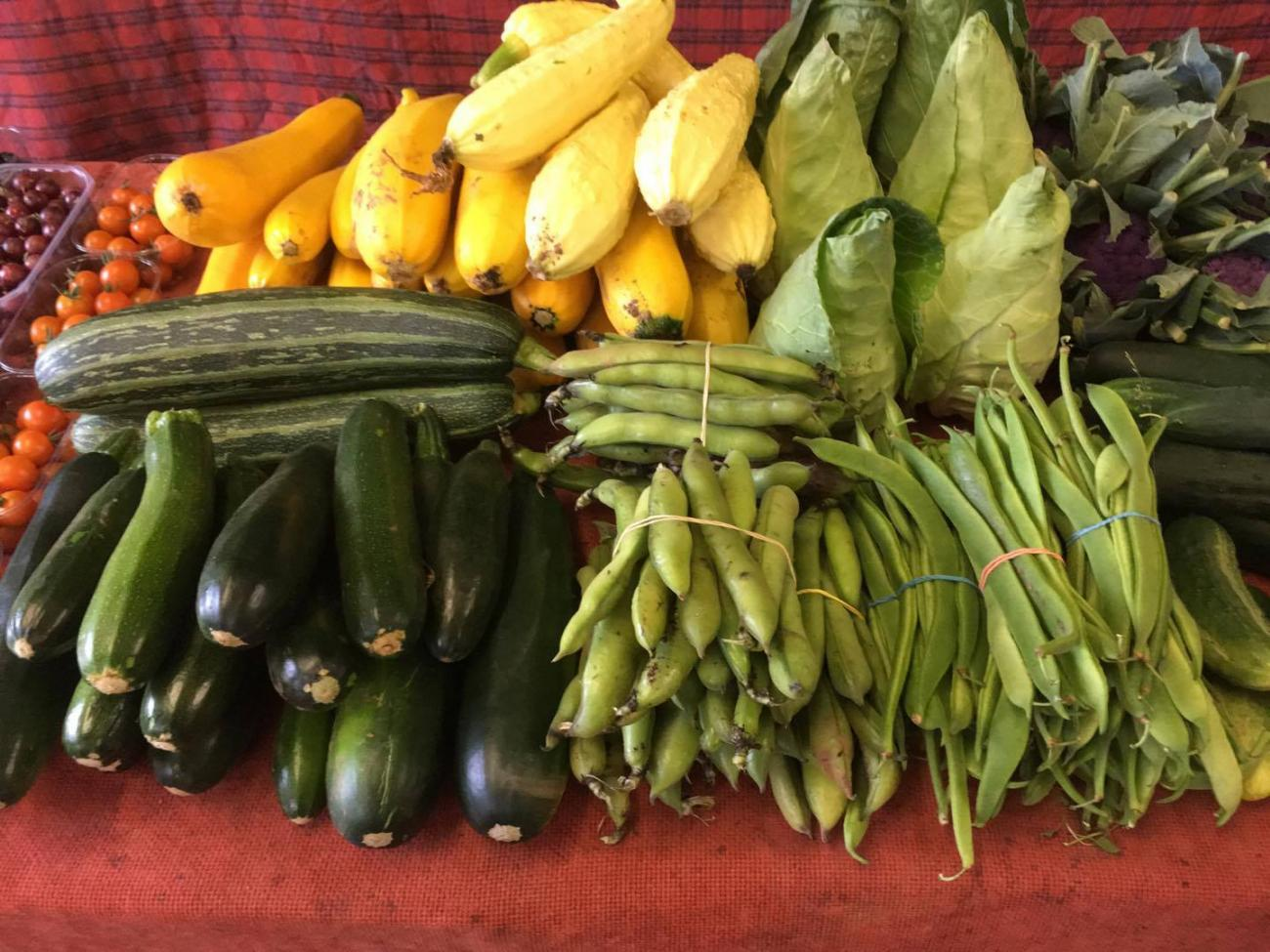 Selection of Vegetables at the market